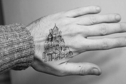 Tattoo Design Bild: 17 Best Ideas About Building Tattoo On Pinterest