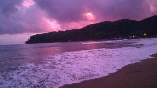 cloudy sky + sunset = purple sky