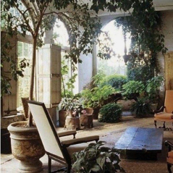 Indoor garden, Beautiful Sunroom....Green Interiors, Axel Vervoordt, Indoor Gardens, Plants, Gardens Spaces, Dreams Room, Dreams Gardens, Interiors Gardens, Sun Room