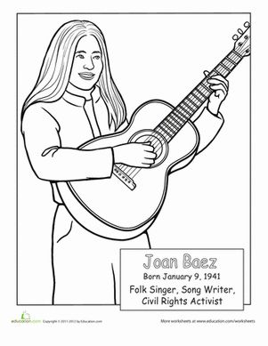 Celebrate Hispanic heritage with coloring pages dedicated to some notable Hispanic-Americans.