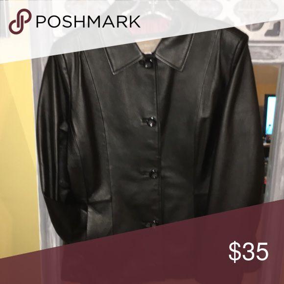 Ladies leather jacket size medium. NWOT Ladies leather jacket size medium.NWOT Jackets & Coats Utility Jackets