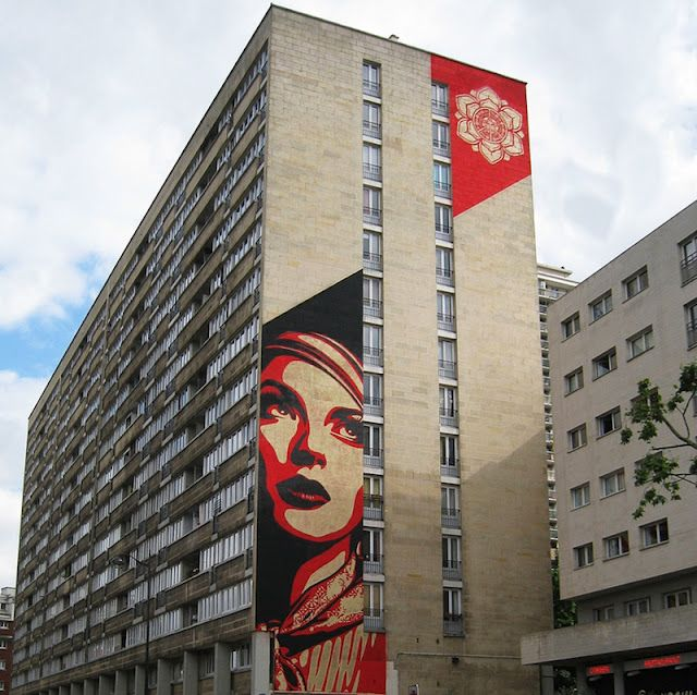 Shepard Fairey and the Obey Crew new mural on the streets of Paris, FranceUrban Art, Fairey Street, Paris France, Street Art, Public Art, Fairey Rise, Rise Above, Paris Streetartnew, Shepard Fairey