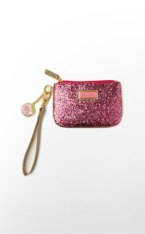 lilly pulitzer glitter wristlet yes please