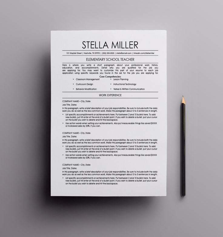 8 best Resume Templates images on Pinterest Teacher resumes, Cv - achievements to put on a resume