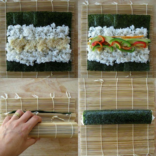 vegetarian sushi recipe & tips. YUM this makes me want sushi real bad.