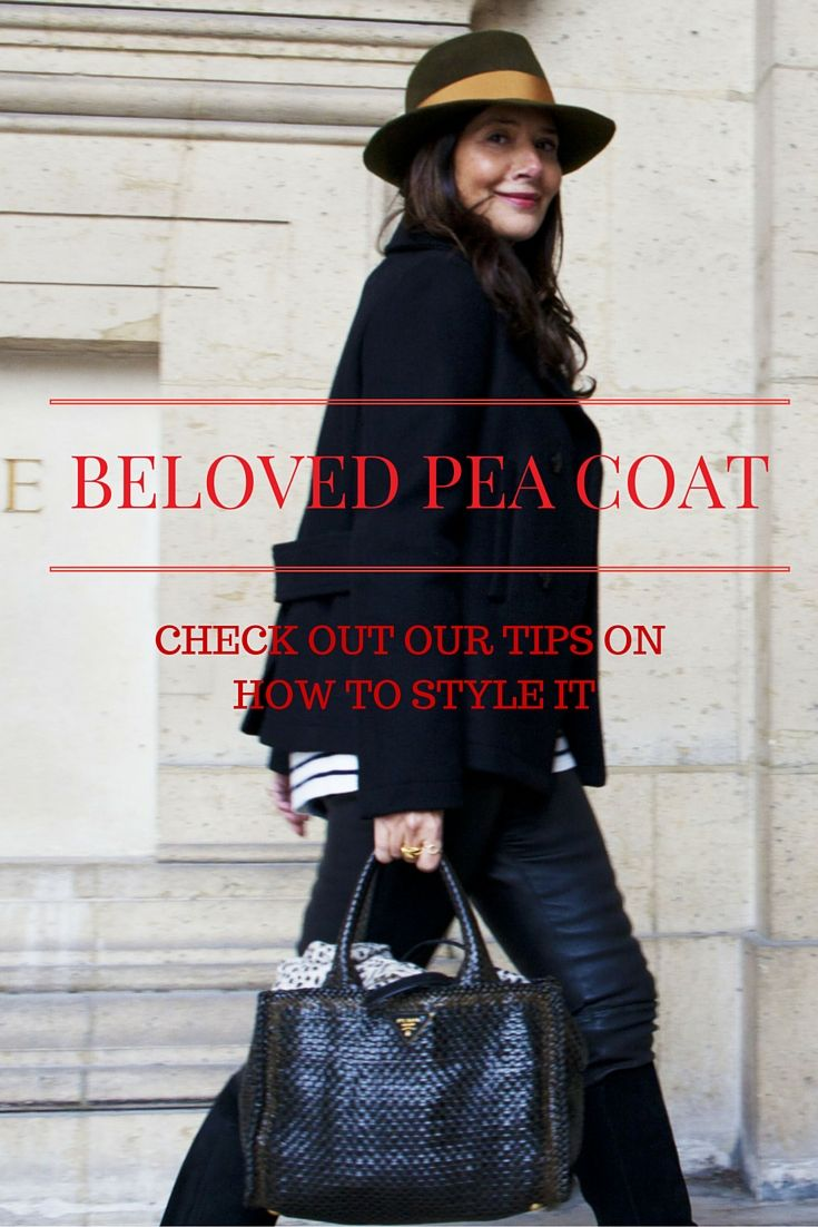Want to know how to style your pea coat? Check out our tips for it. #peacoat #fedora #prada #muubaa #leather