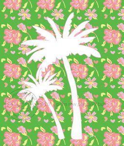Palm trees/art print/south beach style/home decor /coastal decor