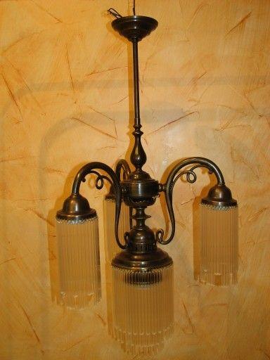 Piękna międzywojenna lampa wisząca