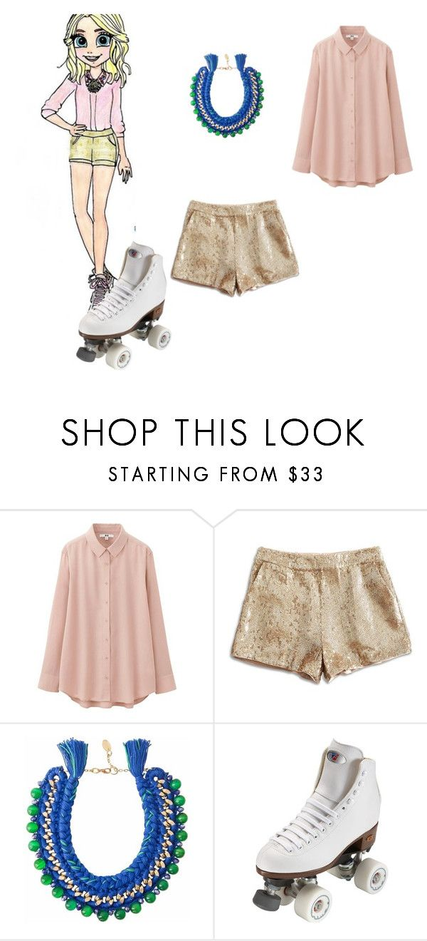 """soy luna ambar"" by maria-look on Polyvore featuring Uniqlo, Lucky Brand, Ricardo Rodriguez and Riedell"