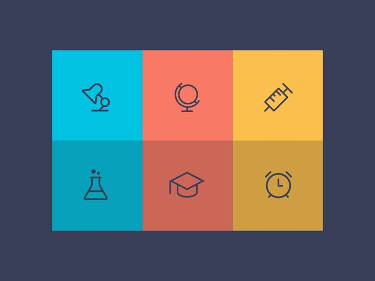 A collection of icons inspired by school and education theme. This set includes…