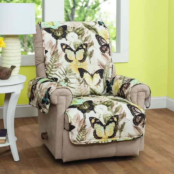 Innovative Textile Solutions Butterfly Recliner Or Wing Chair Protector  (Multi) (Print)