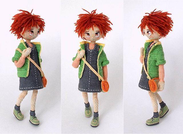 Amigurumi casual girl doll. (Inspiration).