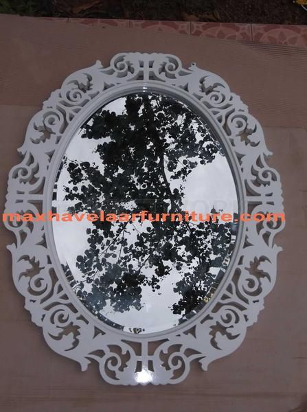 Cermin Hias Oval - Oval Mirror • Max Havelaar Furniture • Indonetwork.co.id