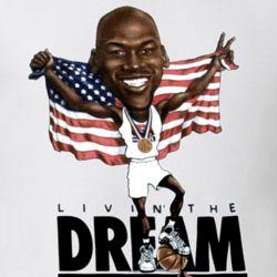 Michael Jordan Olympic Basketball Caricature T Shirt
