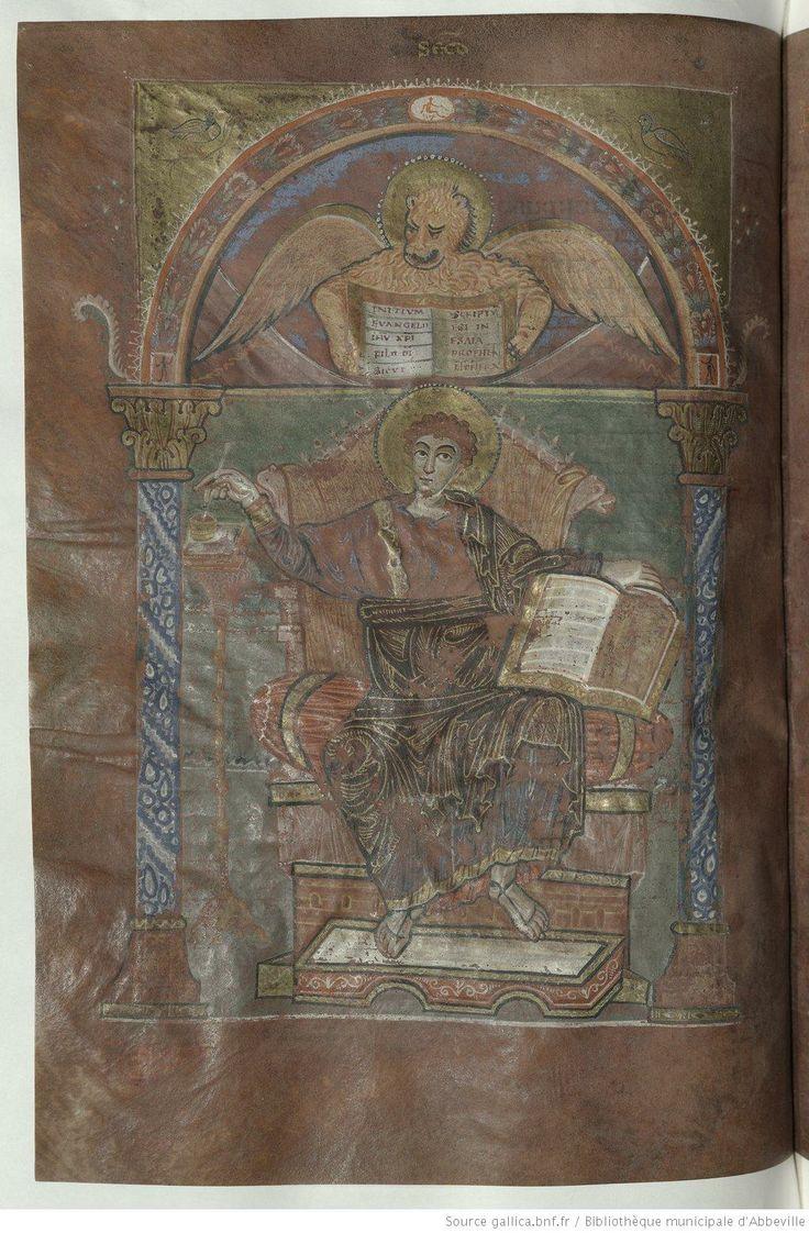 Quattuor Evangelia, dits Evangiles de Saint Riquier ou de Centula. Date d'édition : 790-800 Type : manuscrit Langue : Latin