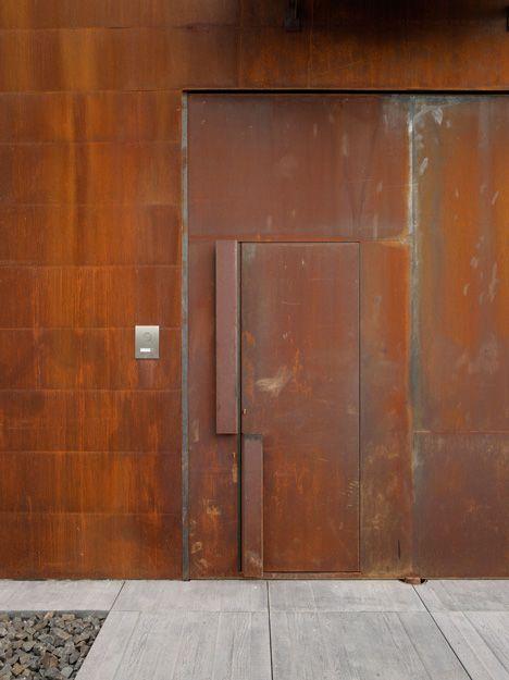STEEL corten gate home entrance - Pesquisa Google