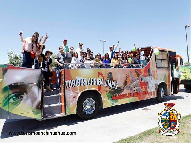 TURISMO EN CIUDAD JUÁREZ le invitamos a usar el Turibus Juárez, un proyecto del empresariado juarense mediante el que se promoverán a través de varios recorridos, las zonas turísticas de la ciudad. Los puntos de venta se encuentran en: Restaurante Viva México en la Avenida Lincoln y a un costado de la Caseta de Transborde a la vuelta del puente Paso del Norte (puente Santa Fe). #visitachihuahua
