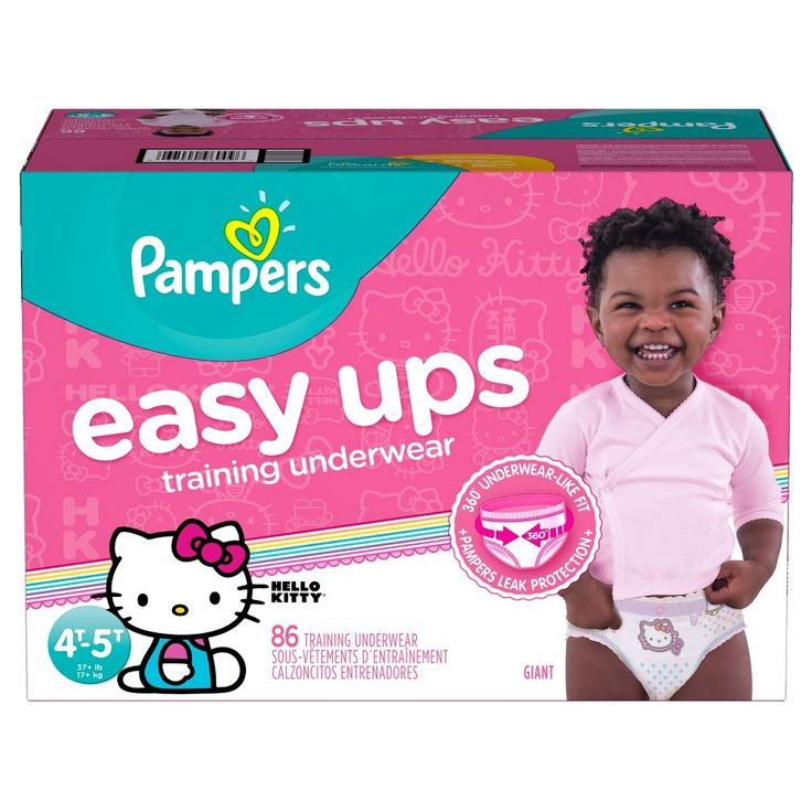 Pampers Easy Ups Girls Training Pants Giant Pack 4T-5T (86 ct)