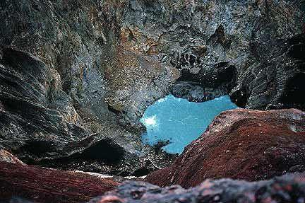 The crater of Mt. Kerinci, Sumatra, Indonesia