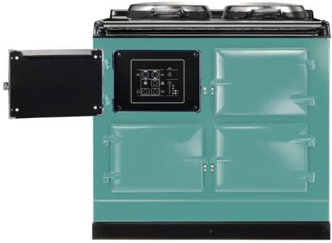 AGA ATC3PIS 39 Inch Cast-Iron Electric Range with 3 Large Ovens, 2 Hotplates, 10 Cooking Methods, Touch-Screen Control Panel and Remote Control Handset: Pistachio
