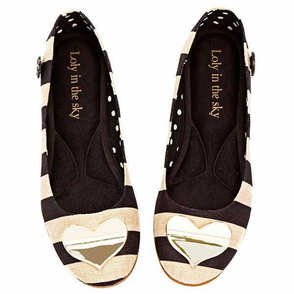 Loly in the Sky Heart Flats
