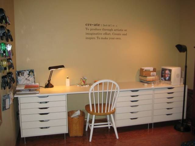 Made From Alex Drawer Units From Ikea And Tabletop From