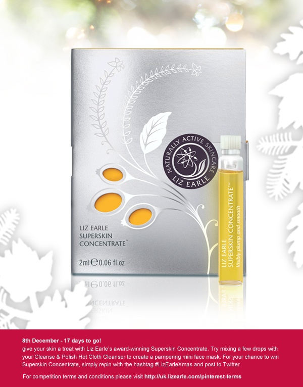 For a chance to win Superskin Concentrate, repin and post to Twitter with #LizEarleXmas on 8 Dec!