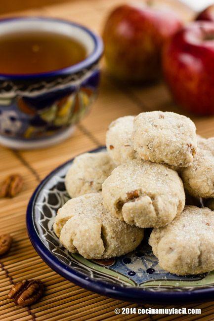 Polvorones de nuez. Receta para Navidad | Cocina Muy Fácil | http://cocinamuyfacil.com