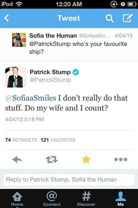 Aww how sweet. Deep down, I bet he ships Peterick though ❤️❤️❤️<<<<<<no.