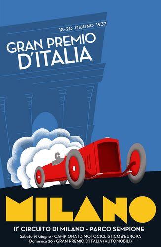 M<3 Vintage Posters | Gran Premio d'Italia | Milano