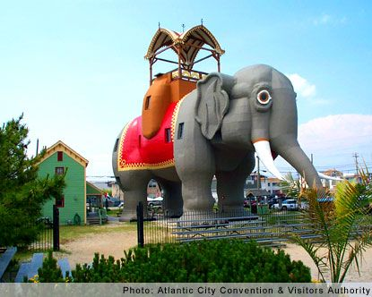 Lucy the Elephant, Margate, New Jersey-- The other one on my list that I discovered without traveling near it. Neither of us can remember the exact year that we visited New Jersey to see Lucy.  She was wonderful!
