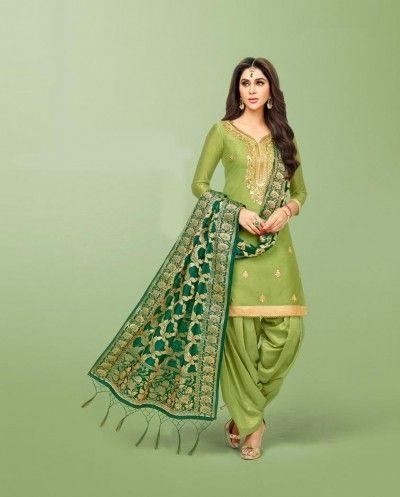 815129a481 Buy A Light Green Art Silk Straight Cut Suit - Shop Designer Suit Online Salwar  Suits