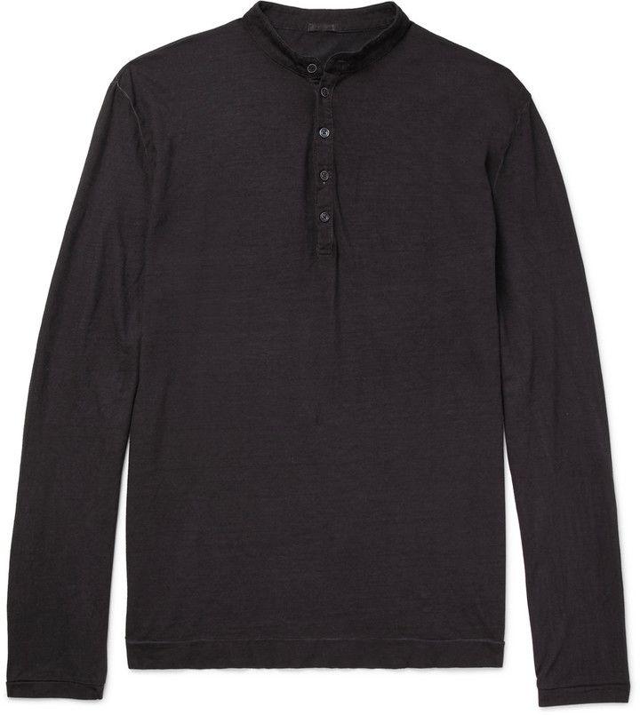 Massimo Alba Garment-Dyed Cotton Henley T-Shirt