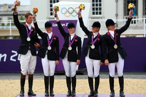 Celebrating on the podium after winning the Silver medal, the Eventing Team Jumping Final riders with their Silver Medals (Photo by Alex Livesey/Getty Images)    Unlike · · Share · 30 minutes ago ·         You and Stephanie Swaby Irving like this..