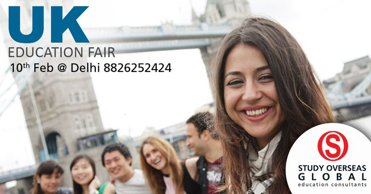 Register for free at the UK education fair on the 10th of February, 2017 at Delhi. Visit: http://studyoverseasglobal.com/educationfairs/ to know more. #StudyOverseas #EducationFair