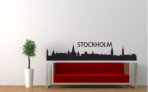 Stockholm city skyline vinyl wall art decal  £15.99 - £16.99