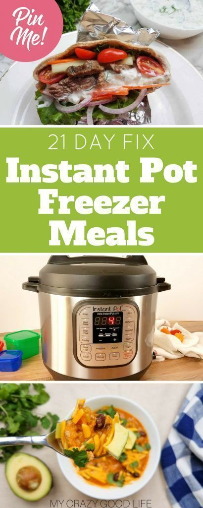 21 Day Fix Instant Pot Freezer Meals | Meal Plan | 21 Day Fix Meal Plan | 21 Day Fix Freezer Meals