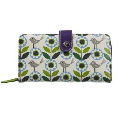 Nicky James Leather Zip-Around Purse - Bloom Green