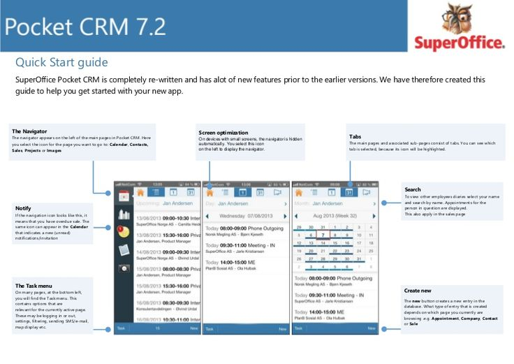 quickguide-to-superoffice-pocket-crm by Hans Christian Gronsleth via Slideshare