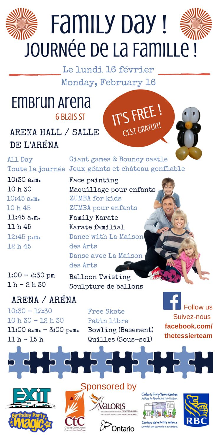 Want to know the schedule for our upcoming #FAMILYDAY2015 event? Check it out!!! #EMBRUN #EXITrealtymatrix