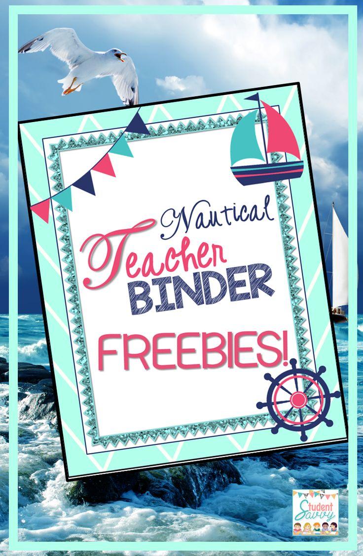 Nautical Teacher Binder - Free Teaching Resource! Start building your teacher binder!