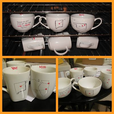 Long distance friendship mugs!