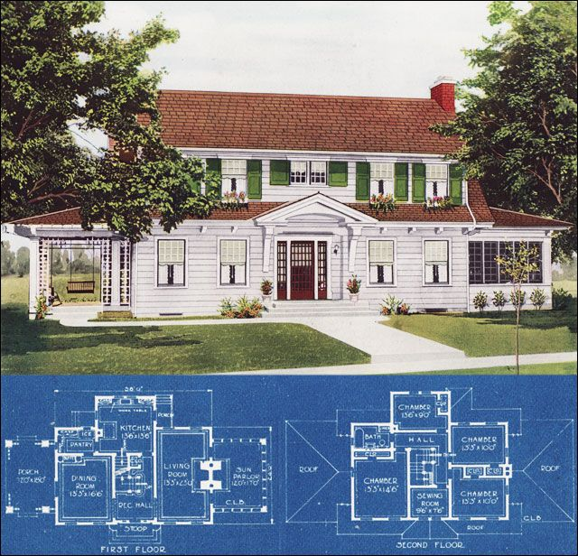 46 Best Images About Vintage House Plans On Pinterest