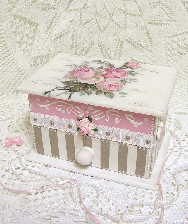 50+ ideas decoupage boxes in various styles - Part 6