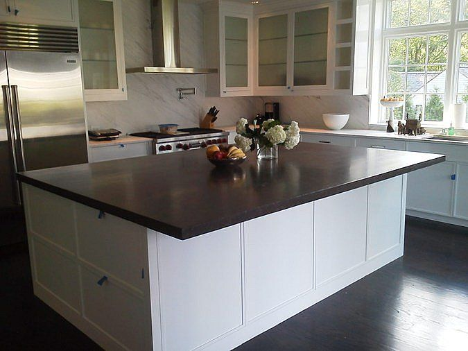 concrete kitchen countertops island 13 best Concrete Countertops images on Pinterest