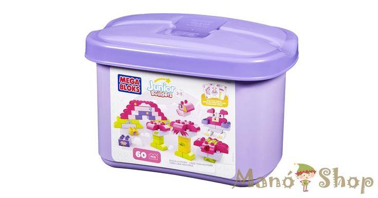 Mega Bloks Junior Builders 60db-os lányos tároló doboz (7583)