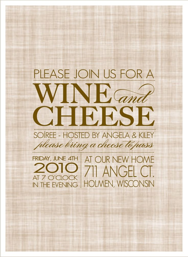 Wine cheese soiree house warming party party for Creative housewarming party ideas