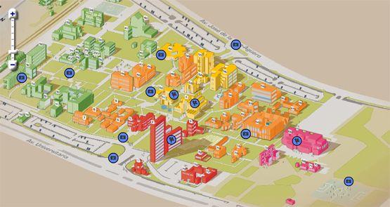 PUCP | Nuestra universidad | Mapa del campus