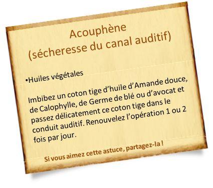 acouphène huiles végétales