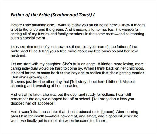 Father of the bride wedding speeches samples yahoo image for Father of the bride speech templates